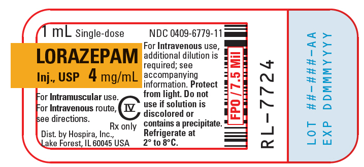 PRINCIPAL DISPLAY PANEL - 4 mg/mL Vial Label - 6779