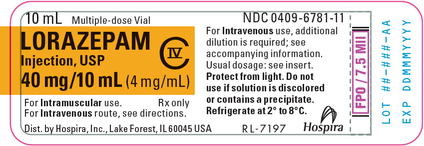 PRINCIPAL DISPLAY PANEL - 4 mg/mL Vial Label - 6781